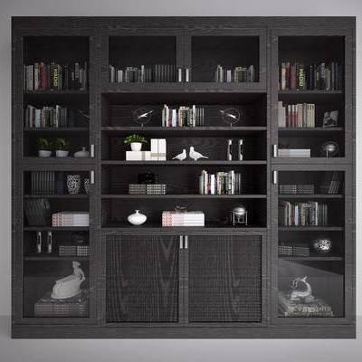 现代书柜, 中式书柜, 北欧书柜, 现代, 北欧, 书柜, 置物柜, 装饰柜