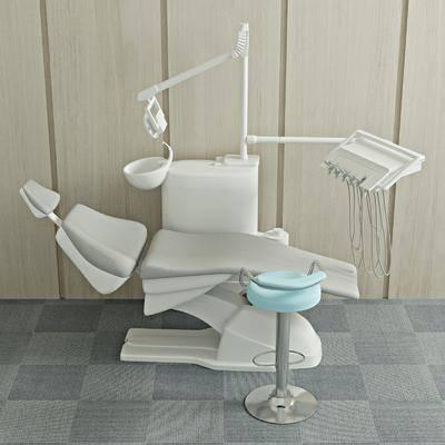 手术台, 洗牙机器, 凳子, 现代