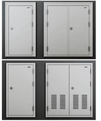 电井门, 管道门, 构件