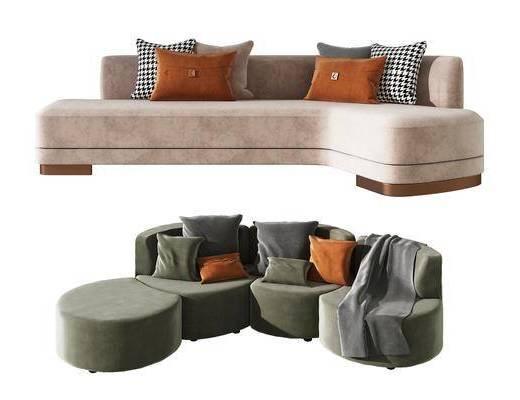 沙发, 组合, 客餐厅