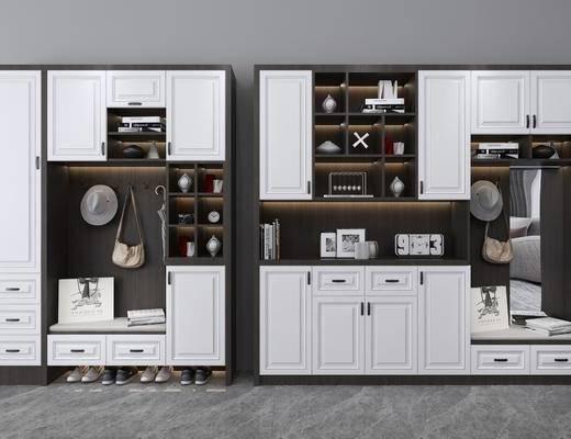 多功能鞋柜, 装饰柜, 摆件, 装饰品, 陈设品, 鞋子, 现代
