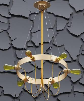 现代吊灯, 现代金属吊灯
