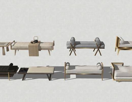 脚踏床, 尾凳, 茶壶, 茶具