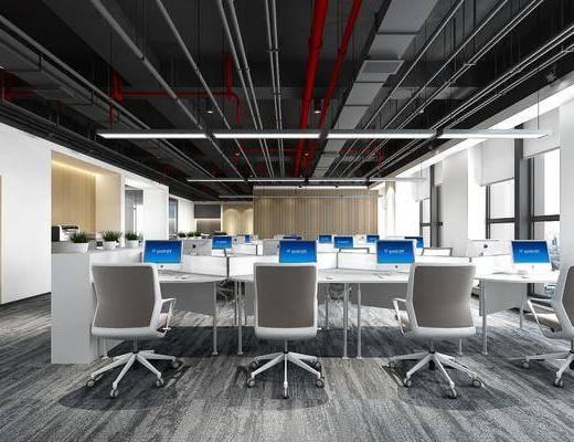工业风办公室, 办公室, 办公区