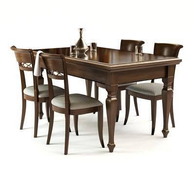 简欧, 古典, 美式, 餐桌, 椅子, 单椅, 摆件