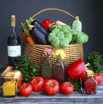 现代简约, 蔬菜, 水果, 日用品, 食品, 西蓝花