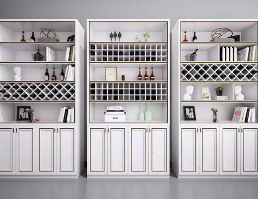 酒柜, 装饰柜, 摆件, 装饰品, 陈设品, 现代