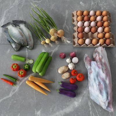 蔬菜, 鱼肉组合