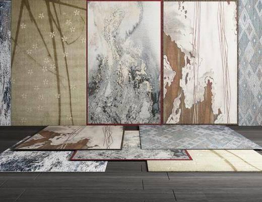 地毯, 方形地毯, 新中式地毯