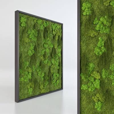 背景墙, 植物, 现代