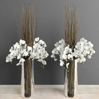 花瓶, 花卉, 现代, 摆件