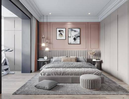 现代, 轻奢, 卧室