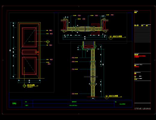 CAD, 家装, 平面图, 立面图, 施工图