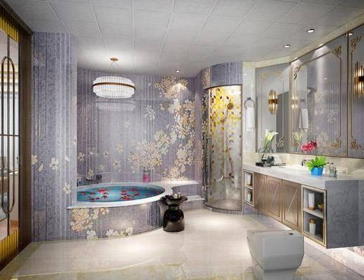 卫生间, 浴缸