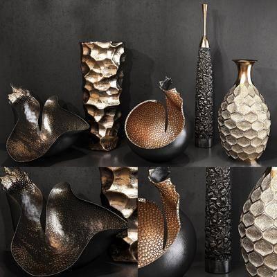 摆件组合, 陶瓷器皿, 装饰品