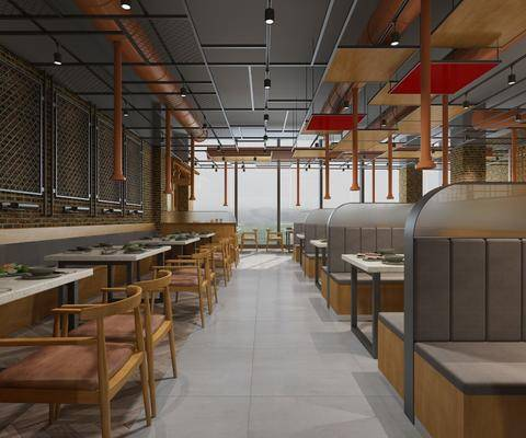 工业风餐厅, 工业风烤肉店