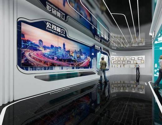 展厅, 展览, 现代科技展厅, 科技展厅, 文化墙, 背景墙, 现代