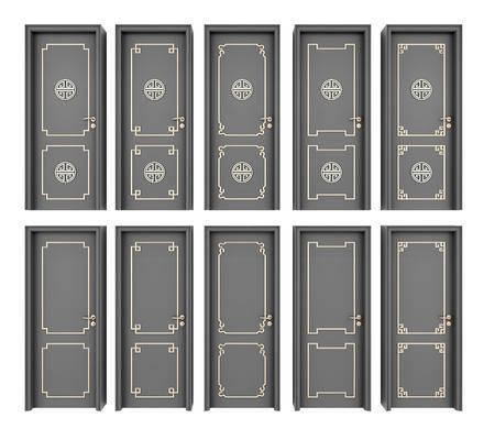 房门, 平开门, 新中式房门