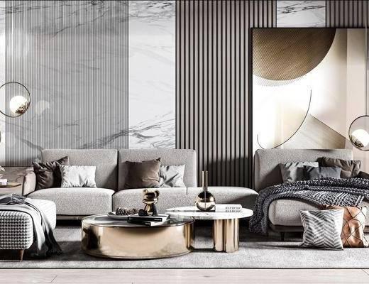 现代沙发茶几组合, 沙发组合, 沙发茶几组合