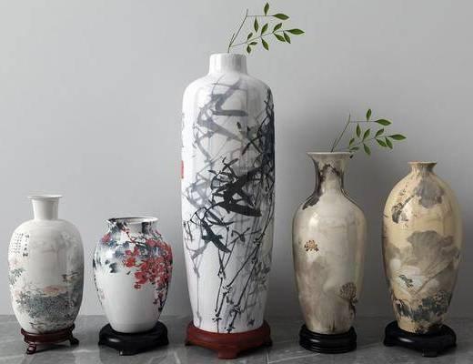 陶瓷器皿, 花瓶, 中式