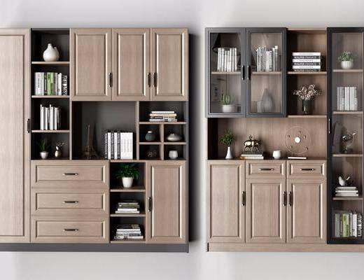 柜架组合, 置物柜, 书柜, 书架