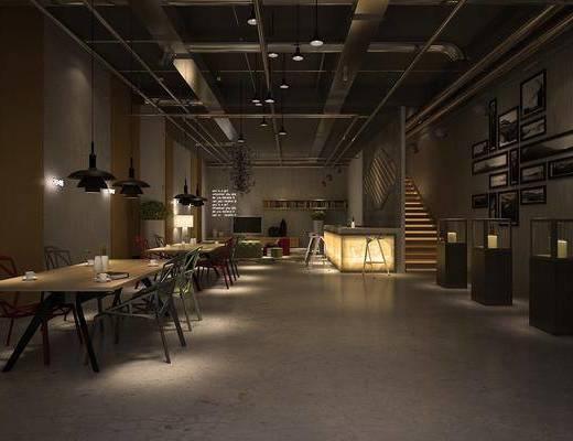 工业风咖啡厅, 咖啡厅