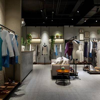 工业风, 服装店, 工装, 服饰, 沙发