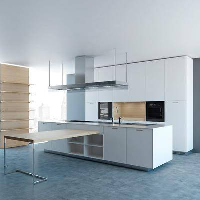 现代厨房橱柜组合, 现代厨房, 现代, 厨房, 橱柜, 洗手盆