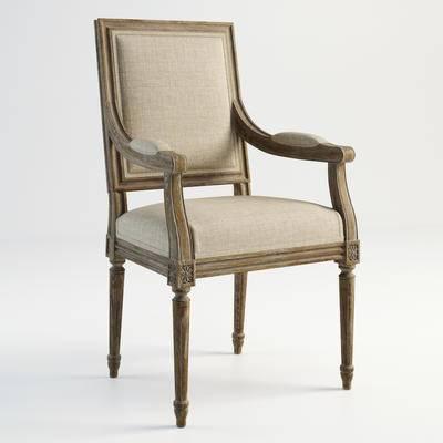 美式, 扶手椅, 单体