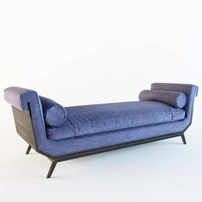 沙发, 脚踏沙发凳, 床位凳, 现代