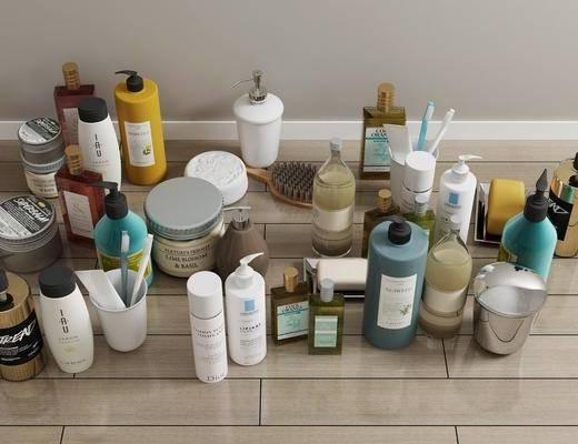卫浴用品, 沐浴日用, 摆件组合, 现代