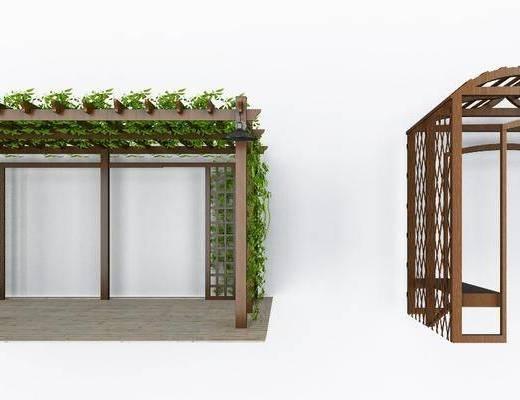 藤蔓植物墙, 植物墙, 爬山虎组合, 现代