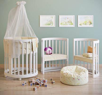 北欧, 儿童床, 婴儿床