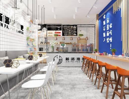 北欧泡面吧泡面小食堂, 北欧, 椅子, 沙发, 前台, 植物