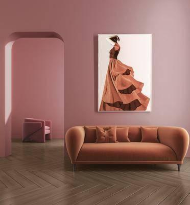 双人沙发, 多人沙发, 北欧沙发, 现代沙发, 沙发