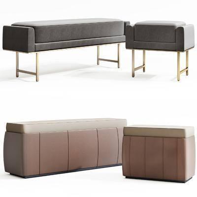贵妃椅, 单椅, 床尾凳