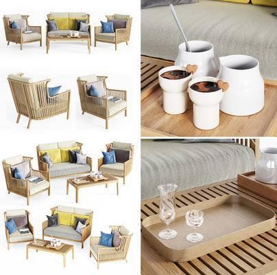 茶几, 沙发, 餐具, 户外椅, 现代, 简约