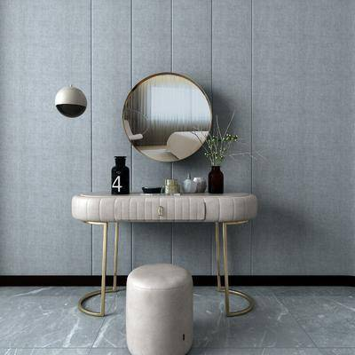 镜子, 梳妆台, 摆件组合