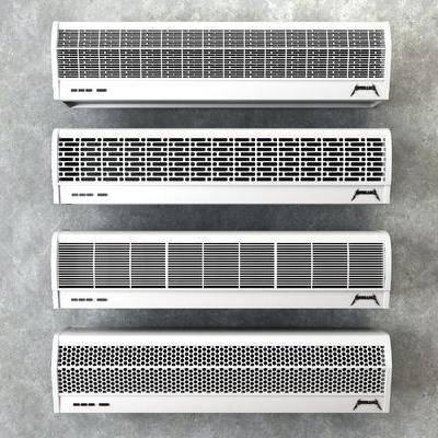 风幕机, 吹风空调, 现代
