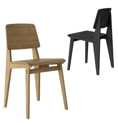现代, 木餐椅, 单体