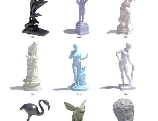 石膏像, 摆件, 陈设品, EV, Evermotion, Archmodels