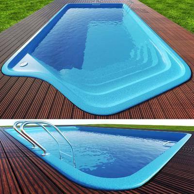 现代游泳池, 游泳池, 草地, 木板, 现代