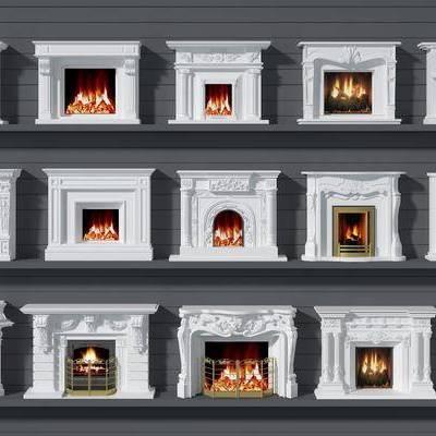 壁炉, 欧式