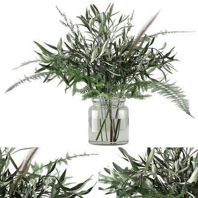绿植花卉, 花瓶花卉, 现代