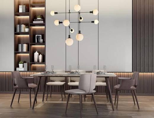 现代桌椅组合, 餐桌椅组合, 餐桌椅