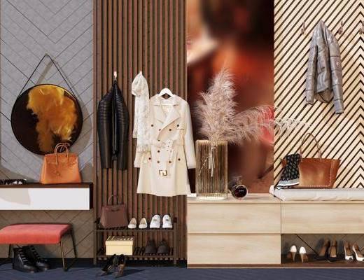衣服, 裙子, 鞋子, 凳子组合