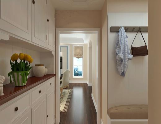 客厅, 美式客厅, 吊灯, 沙发组合, 美式沙发, 沙发茶几组合