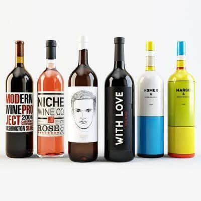 酒瓶, 酒水, 玻璃瓶, 现代