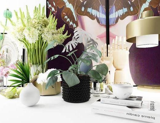陈设, 花瓶, 摆件, 花卉, 摆件组合