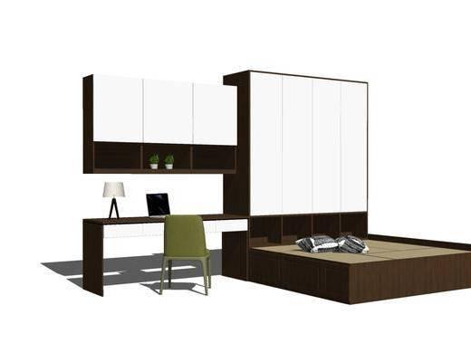 桌椅组合, 单人床, 床具组合
